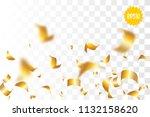 random falling golden glitter... | Shutterstock .eps vector #1132158620