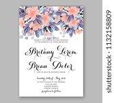 floral cherry bossom wedding... | Shutterstock .eps vector #1132158809