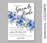 floral wedding invitation or... | Shutterstock .eps vector #1132158878