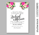 floral wedding invitation or... | Shutterstock .eps vector #1132158890