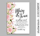 floral wedding invitation or... | Shutterstock .eps vector #1132158959