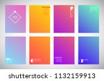 set  collection of flat... | Shutterstock .eps vector #1132159913