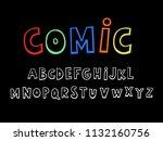 vector of modern comical font | Shutterstock .eps vector #1132160756
