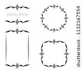 vintage floral frames borders... | Shutterstock .eps vector #1132167554