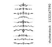 decorative text divider... | Shutterstock .eps vector #1132167590