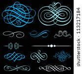 vector ornament set. perfect... | Shutterstock .eps vector #113217184