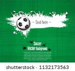 Grunge Soccer Background....