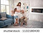 modern grandmother. modern... | Shutterstock . vector #1132180430