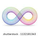 rainbow infinity sign on white... | Shutterstock .eps vector #1132181363