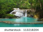 waterfall in tropical forest at ...   Shutterstock . vector #113218204