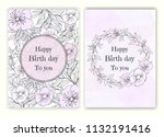 floral hand drawn frame for a... | Shutterstock .eps vector #1132191416