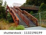 outdoor stairwell with bridge...   Shutterstock . vector #1132198199