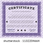 violet diploma. with great... | Shutterstock .eps vector #1132204664