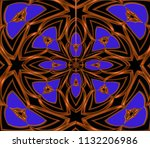 classic golden pattern. golden... | Shutterstock . vector #1132206986