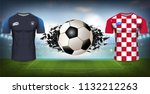 football cup 2018 world... | Shutterstock .eps vector #1132212263