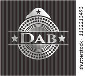 dab silvery badge | Shutterstock .eps vector #1132213493
