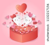 cartoon tooth with love concept ...   Shutterstock .eps vector #1132217156