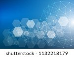big data visualization... | Shutterstock .eps vector #1132218179