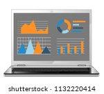 business statistics on the...   Shutterstock .eps vector #1132220414