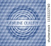 genuine quality blue badge with ... | Shutterstock .eps vector #1132222760
