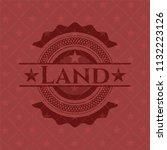 land red emblem. retro | Shutterstock .eps vector #1132223126