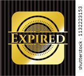 expired gold badge or emblem | Shutterstock .eps vector #1132223153