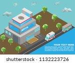 isometric of hospital building...   Shutterstock .eps vector #1132223726