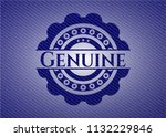 genuine emblem with jean texture | Shutterstock .eps vector #1132229846