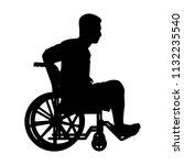 patient on wheelchair... | Shutterstock .eps vector #1132235540