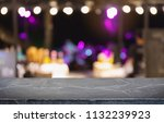 empty black marble stone table... | Shutterstock . vector #1132239923