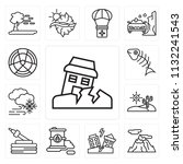 set of 13 simple editable icons ... | Shutterstock .eps vector #1132241543