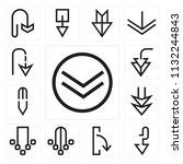 set of 13 simple editable icons ... | Shutterstock .eps vector #1132244843