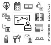 set of 13 simple editable icons ... | Shutterstock .eps vector #1132247129