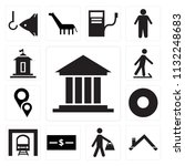 set of 13 simple editable icons ... | Shutterstock .eps vector #1132248683
