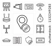 set of 13 simple editable icons ...   Shutterstock .eps vector #1132249283