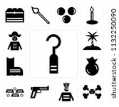 set of 13 simple editable icons ...   Shutterstock .eps vector #1132250090