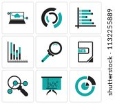 set of 9 simple editable icons... | Shutterstock .eps vector #1132255889