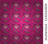 vector flower pattern. colorful ...   Shutterstock .eps vector #1132262834