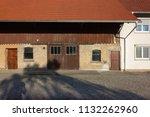 stable buildings bavaria style... | Shutterstock . vector #1132262960