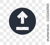 upload vector icon isolated on...   Shutterstock .eps vector #1132263503