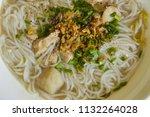 khao piak sen  traditional lao... | Shutterstock . vector #1132264028