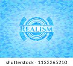 realism realistic light blue... | Shutterstock .eps vector #1132265210