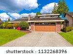 big custom made luxury house... | Shutterstock . vector #1132268396