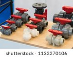 industrial pipe and valve for... | Shutterstock . vector #1132270106