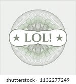 green money style emblem or... | Shutterstock .eps vector #1132277249