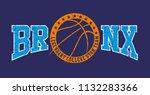 bronx basketball graphic design ... | Shutterstock .eps vector #1132283366