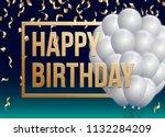 happy birthday vector... | Shutterstock .eps vector #1132284209