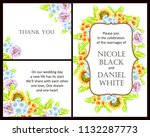 invitation with floral... | Shutterstock . vector #1132287773