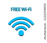 free wifi icon isolated on... | Shutterstock .eps vector #1132293053