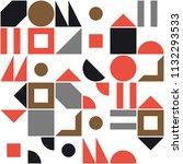 square pattern. retro pattern | Shutterstock .eps vector #1132293533
